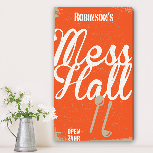 Personalized Family Mess Hall Canvas CA0035