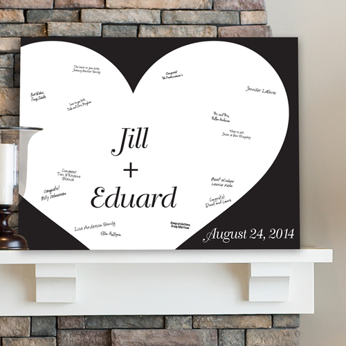 Personalized Wedding Signatures Canvas Shadow Of Love CA0043
