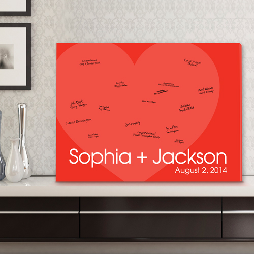 Personalized Wedding Signatures Canvas Love For Ever CA0044