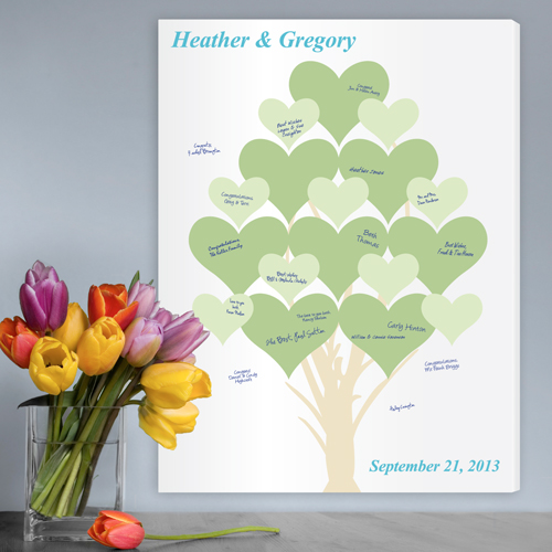 Personalized Wedding Signatures Tree Branches Of Love Canvas CA0045