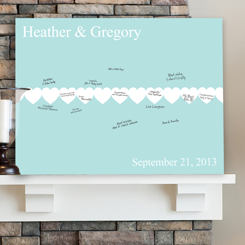 Personalized Wedding Signatures Canvas Follow Your Heart CA0047