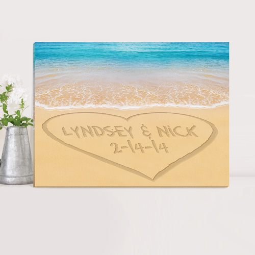 Personalized Day To Remember Couples Canvas Print CA0055