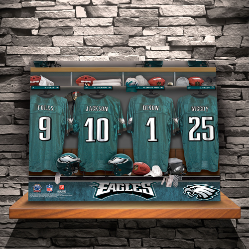 Personalized NFL Locker Room Canvas Print CA726