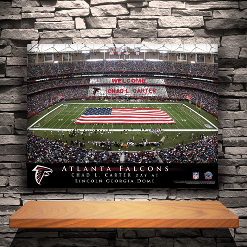 Personalized NFL Stadium Canvas Print CA756