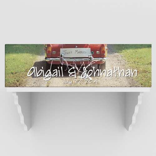 Personalized Just Married Couples Canvas Print CA757