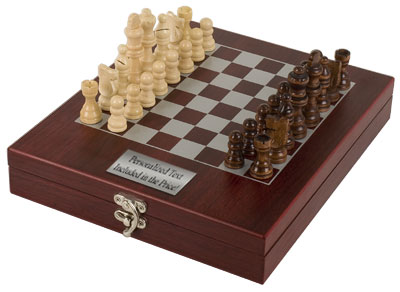 Engraved Elite Rosewood Chess Set