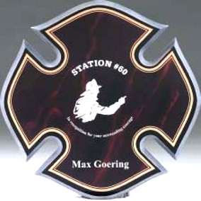 Firefighter Maltese Cross Made From Acrylic CP249