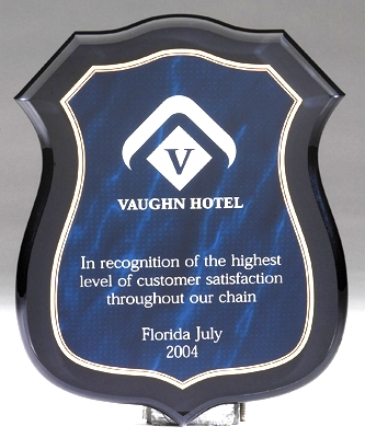 Blue Marble Badge Acrylic Plaque CP790-B
