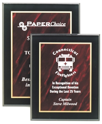 Red Marble Acrylic Plaque CP810-R
