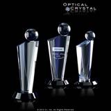 Plush Contemporary Tower Crystal Trophy CRICTN