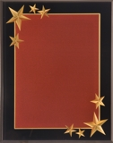 Red Acrylic Plaque With Gold Stars CRV8BG