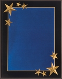 Blue Acrylic Plaque With Gold Stars CRV8BU