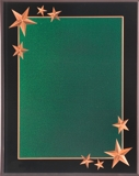 Green Acrylic Plaque With Gold Stars CRV8GN