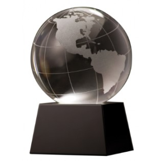 Crystal Globe Paperweight CRY037
