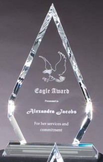 Optical Crystal Prism Shaped Award