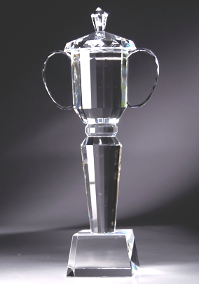 Crystal Trophy Cup On Crystal Base CRY122