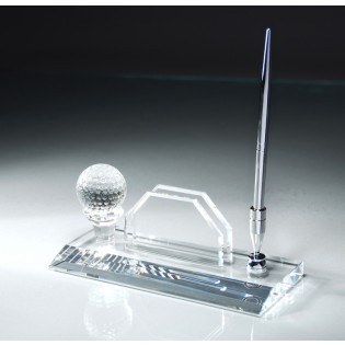 Crystal Golf Desk Pen Set CRY131
