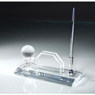 Crystal Golf Desk Pen Set