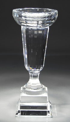 Optical Crystal Trophy Cup With Engraving Plate CRY137