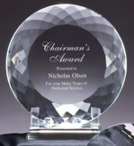 Engravable Crystal Plate Award CRY177