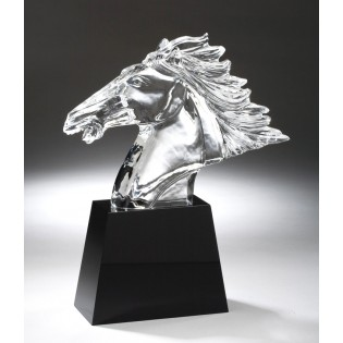 Crystal Horse Head Sculpture CRY300
