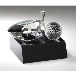 Crystal Golf Club Head and Ball Award