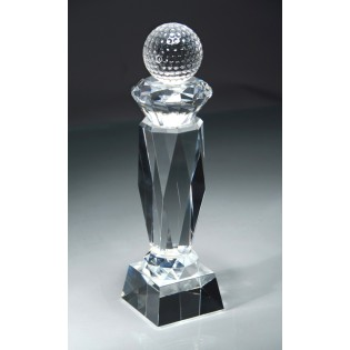 Crystal Prism Golf Trophy CRY43