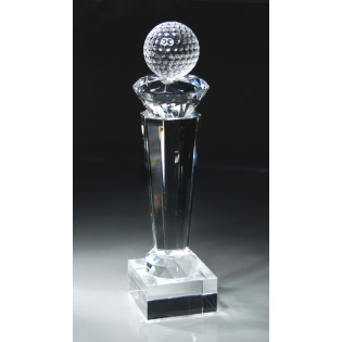 Crystal Golf Ball Trophy CRY44