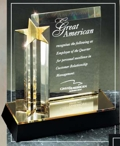 Acrylic Star Column and Plaque DT215