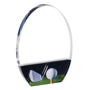 Acrylic Golf Award Trophy