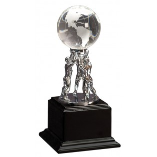 Team Building Crystal Globe Trophy Award EX001