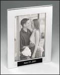 8 X 10 Polished Silver Picture Frame FR84