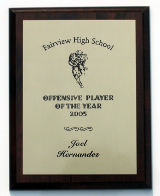Football Player Engraved Award Football Player Engraved Award