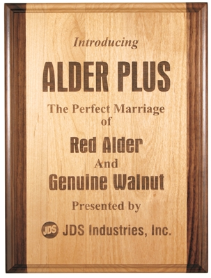 Genuine Red Alder and Walnut Combination Plaque GAP810