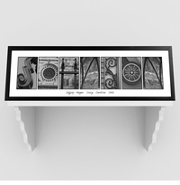 Modern Architectural Black and White Family Name Print GC1008