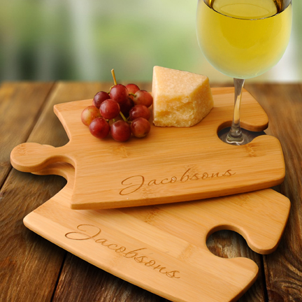 Engraved Bamboo Puzzle Cutting Boards Set