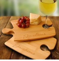 Engraved Bamboo Puzzle Cutting Boards Set Of 2 GC1013