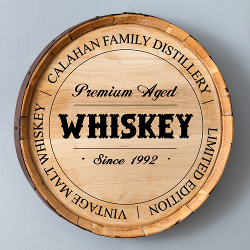 Personalized Authentic Whiskey Barrel Sign GC1029