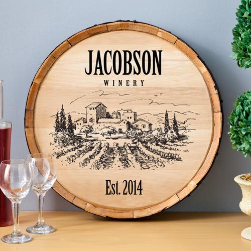 Personalized Wine Barrel Home Decor Sign GC1036