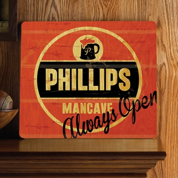 Personalized Always Open Wood Home Bar and Tavern Sign GC1067always-open-pub