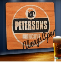 Personalized Always Open Wood Home Bar and Tavern Sign GC1067always-open