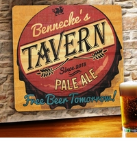 Personalized Free Beer Tomorrow Wood Home Bar and Tavern Sign GC1067free-beer-tomorrow