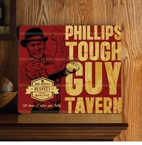 Personalized Tough Guy Wood Home Bar and Tavern Sign