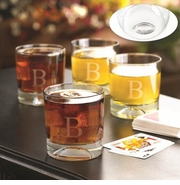 Engraved Lowball Football Pub Glasses Set Of 4 GC1071