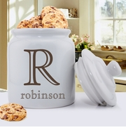 Personalized White Ceramic Cookie Jar GC1077
