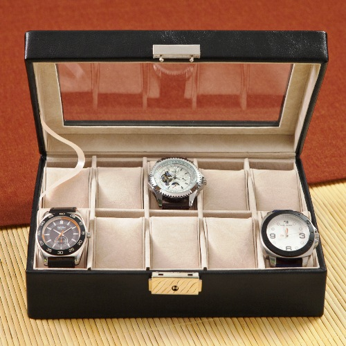 Personalized Stitched Leather Watch Case GC1082