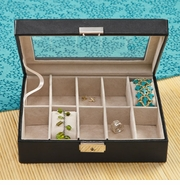 Personalized Luxurious Leather Jewelry Box GC1083