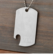 Engraved Dog Tag Bottle Opener GC1088