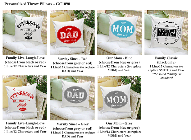 Personalized Family Name With Year Throw Pillows