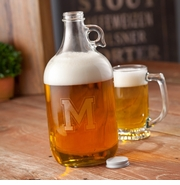 Personalized 64oz Varsity Letter Beer Growler GC1093